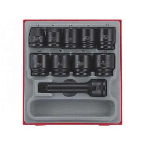 Conjunto de 16 peças de chaves de impacto regulares 3/4