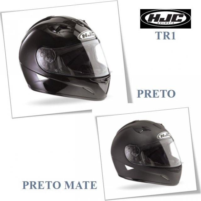 HJC TR1 PRETO, PRETO MATE
