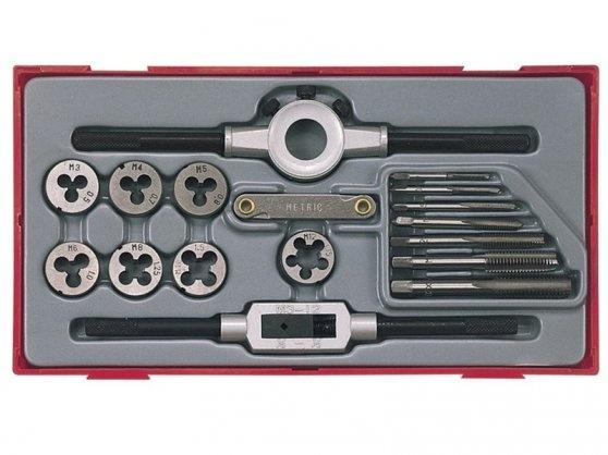 Conjunto de 17 peças de machos e matrizes para abertura de roscas