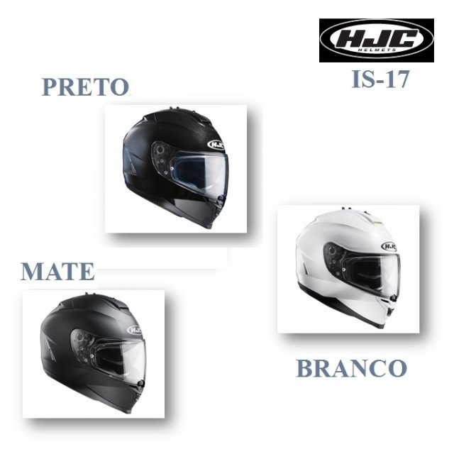 HJC IS-17 BRANCO, PRETO, MATE