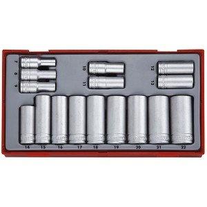 Conjunto de 16 peças de chave métricas longas