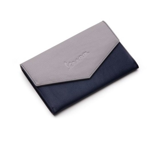Porta documentos Vespa (AZUL - AZUL/CINZA)