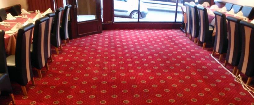 Limpeza de carpetes de grandes dimensões