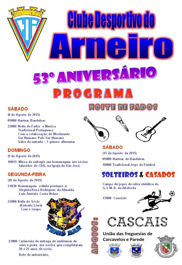 53º Aniversário do Clube Desportivo do Arneiro